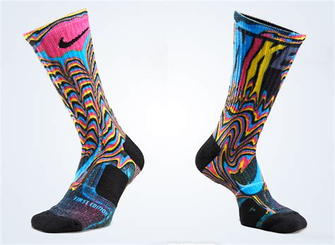 elite socks nike unveils the elite digital ink print sock
