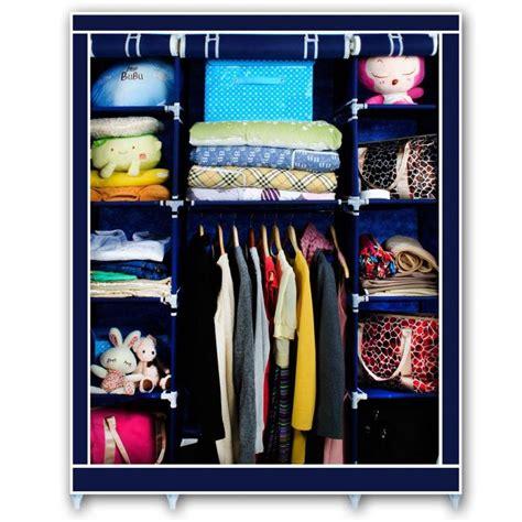 canvas wardrobe clothes hanging rail storage