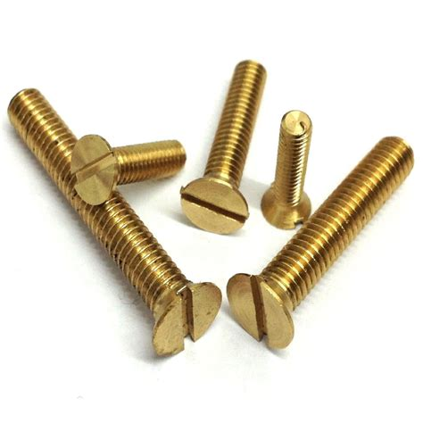 Sdw Countersunk 14 X 14 X 50 1 4 bsw slotted countersunk machine screws brass