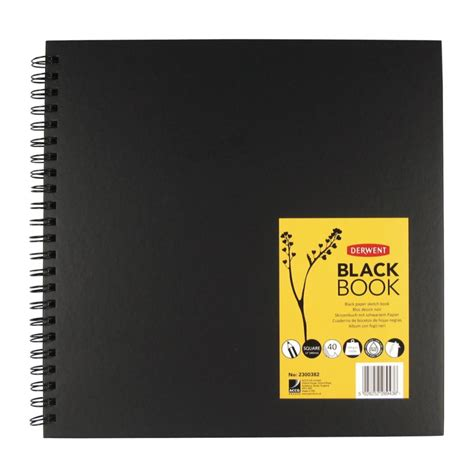 sketch album squared black soft cover derwent black book 12 inch square sheet size