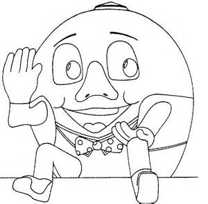 free coloring pages of humpty dumpty