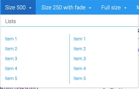 bootstrap layout with dropdown material design responsive dropdown mega menu compatible