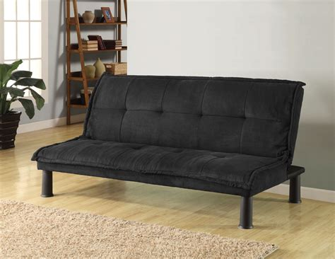 microfiber sofa bed futon sofa bed black microfiber adjustable