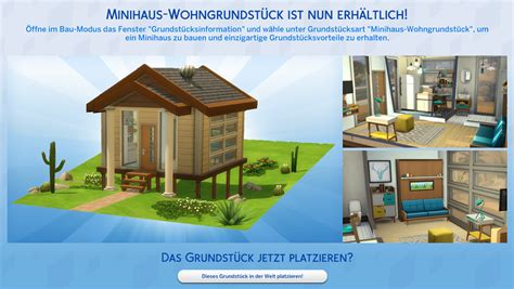angespielt die sims  tiny houses accessoires simtimes