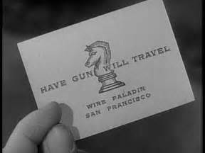 paladin business card wire paladin gun will travel the stalking moon