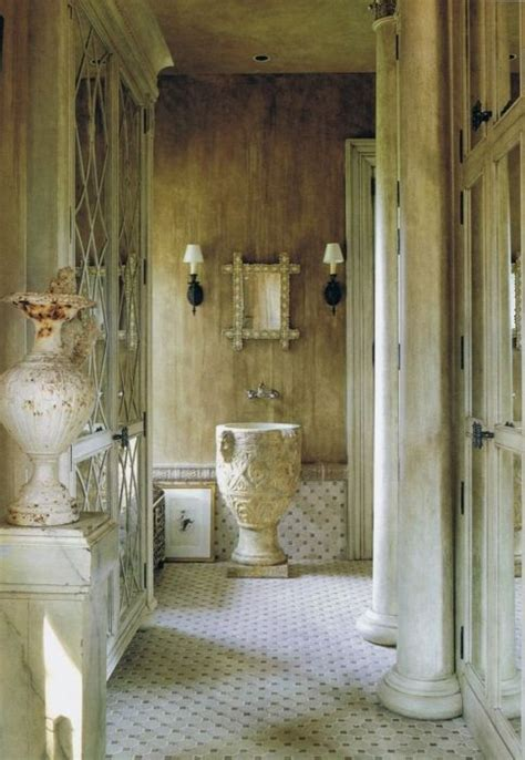 roman style bathroom love the details in this ancient greek roman style bath