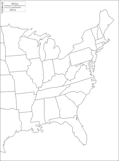 map of the east coast in usa blank map east coast united states