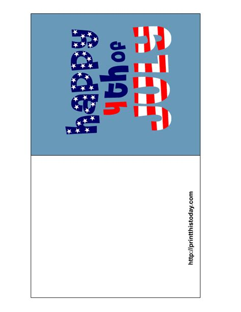 4th Of July Greeting Card Templates by Free Printable 4th Of July Cards