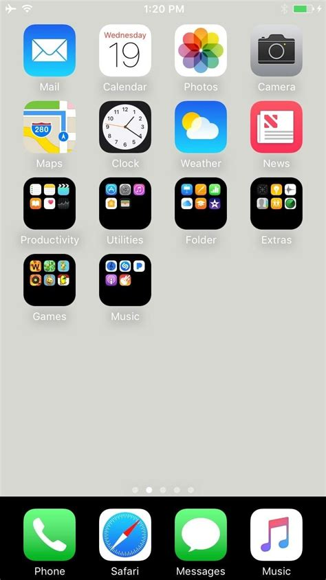 change layout home screen iphone 4 how to get a black dock folders on your iphone s home
