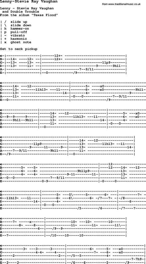 blues guitar lesson  lenny stevie ray vaughan  chords tabs  lyrics