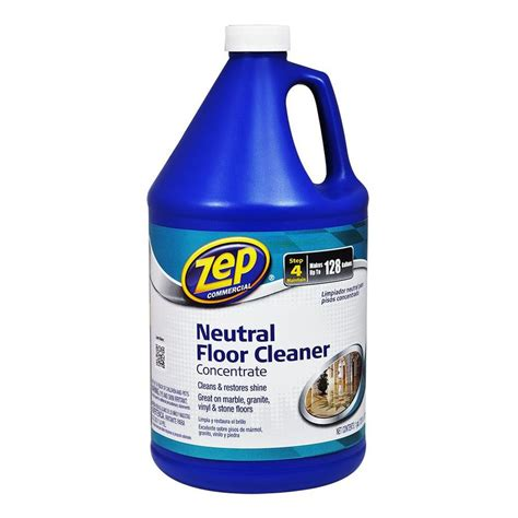 shop zep commercial neutral floor cleaner concentrate 128 fl oz vinyl floor cleaner at lowes com