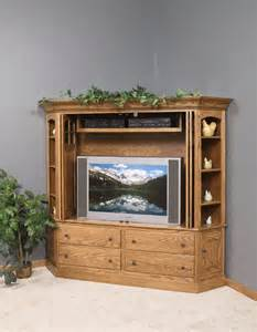 Tv Armoire Cabinet Amish Corner Entertainment Center 7026
