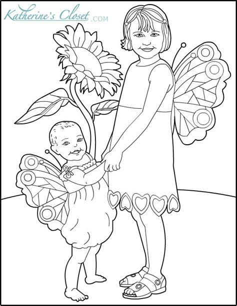 baby fairies coloring pages