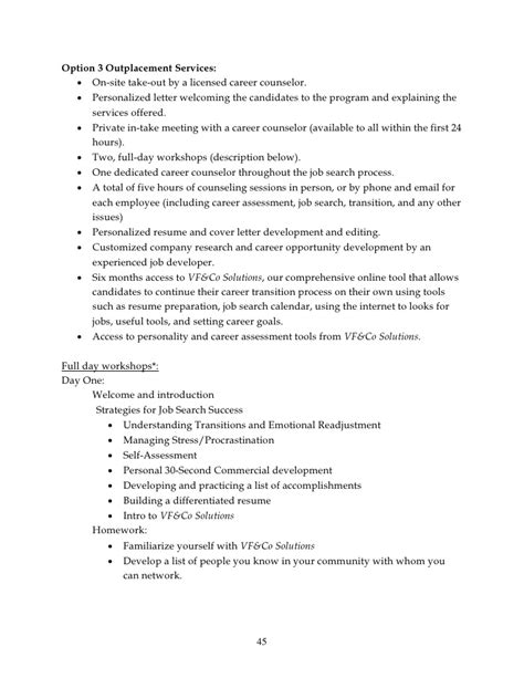 Readjustment Counseling Therapist Cover Letter by Do It Yourself Outplacement Kit For Hr Professionals