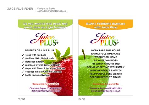 juice plus business card template daly creates graphics illustration