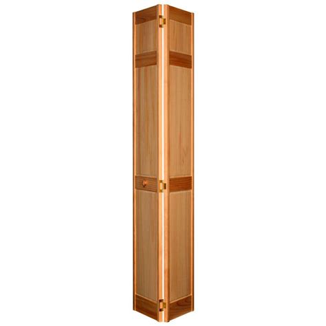 Wooden Bifold Closet Doors Home Fashion Technologies 28 In X 80 In 6 Panel Stain Ready Solid Wood Closet Bi Fold Door