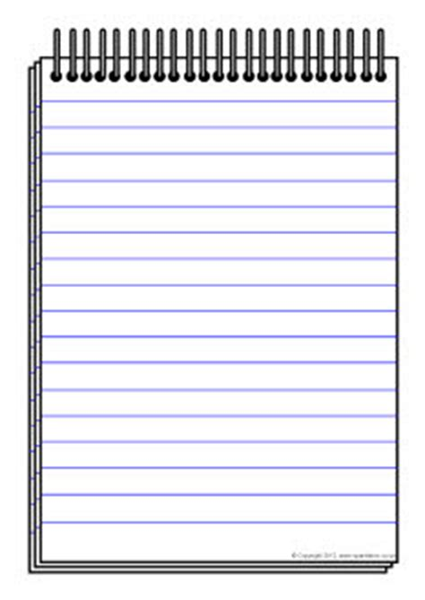 notepad template notepad writing template sb7544 sparklebox