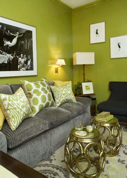 lime green living room lime and gray living room paint color green interiors