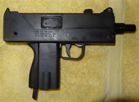 Cobra 9mm Auto by Cobray Mac 10 45 Open Bolt Semi Auto With Extr For Sale