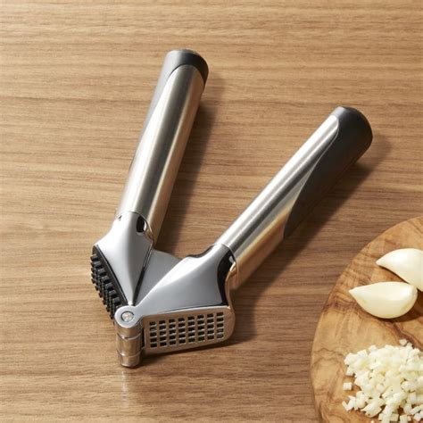 OXO ® Steel Garlic Press   Crate and Barrel