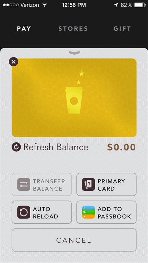 How To Reload Starbucks App With Gift Card - starbucks makes it easier for iphone app users to manage their gift cards appadvice