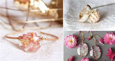 how to make resin jewelry with flowers artist lyuda creates beautiful resin jewelry by using