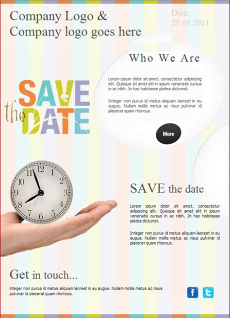 business save the date templates free 9 best images of save the date email template free save