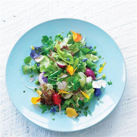 flower food recipe edible flower salad recipe sunset