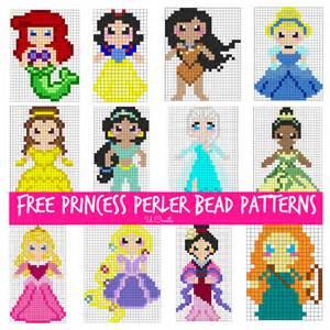 Free princess perler bead patterns for kids u createcrafts com