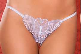 Butterfly Crotchless Thong