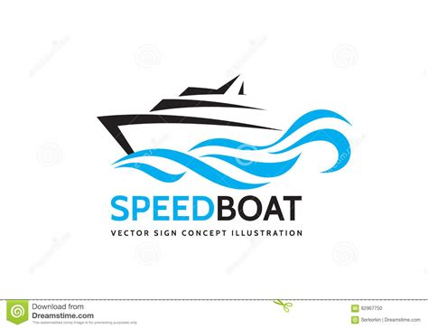 blue wave boats logo abstract speed boat and blue sea waves vector business