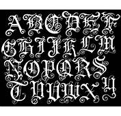 Graffiti Old English Fonts Letter Alphabet