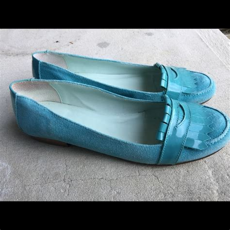 gap womens loafers gap s gap light blue leather loafers size 8m from