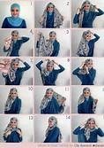 saya mau ngasih cara cara memakai hijab nih semoga bermanfaat yah