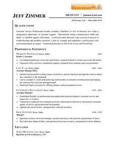 Summary qualifications resume examples customer service south