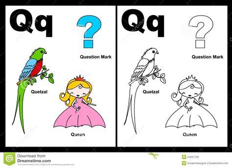 imagenes en ingles que empiecen con la letra o hoja de trabajo de la letra q ilustraci 243 n del vector