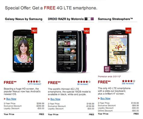 Call Lookup Verizon Verizon S Free Galaxy Nexus Promo Is Regional Calling Customer Service Won T Get You