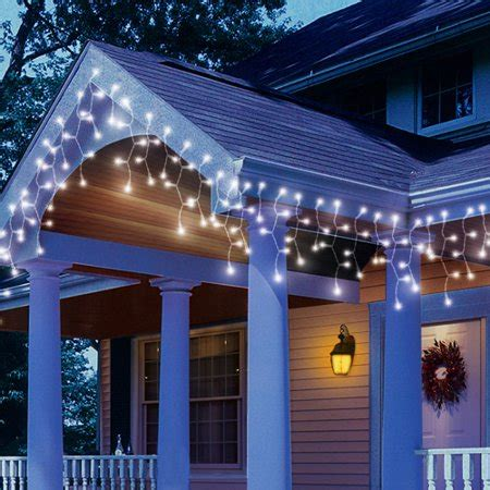 christmas lights at walmart time led white icicle string lights 200 count walmart