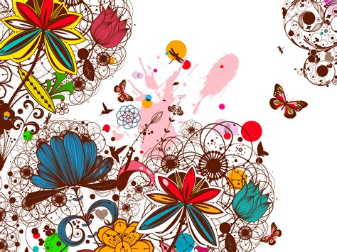 Creative Vintage Floral Backgrounds Beige Black Blue Brown Colors Design Flowers Green Powerpoint Flower Background