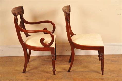 8 Mahogany Regency Dining Chairs Arm Chair Regency Dining Chairs Mahogany