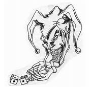 Colored Jester Tattoos Designs For Men