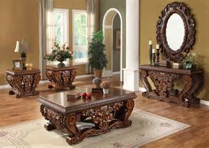 Luxurious traditional style formal living room furniture set hd 379