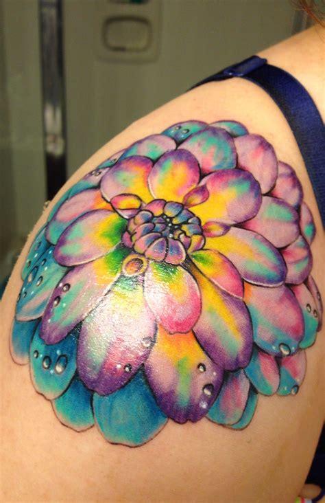 dahlia tattoos dahlia the watercolor typer brightness