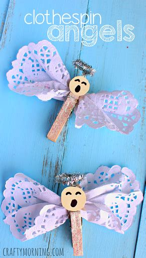 religious christmas crafts to make clothespin craft using doilies religious craft for craftymorning