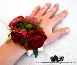 White Rose Flowers - red rose berry wrist corsage wrist corsage using deep