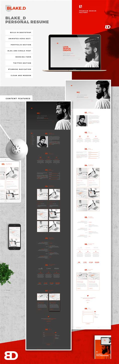 Resume Portfolio Website by Resume Cv Portfolio Website On Behance