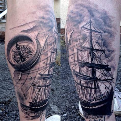 compass lighthouse tattoo 41 stylish compass tattoos for leg