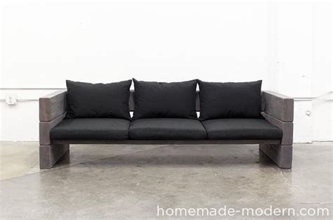 home made couches homemade modern diy outdoor sofa
