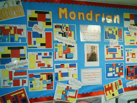 ict painting mondrian ict classroom display photo photo gallery