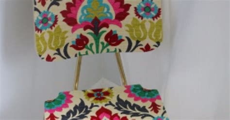 Decoupage With Fabric On Wood - quot upholster quot a wood chair with fabric and mod podge hometalk